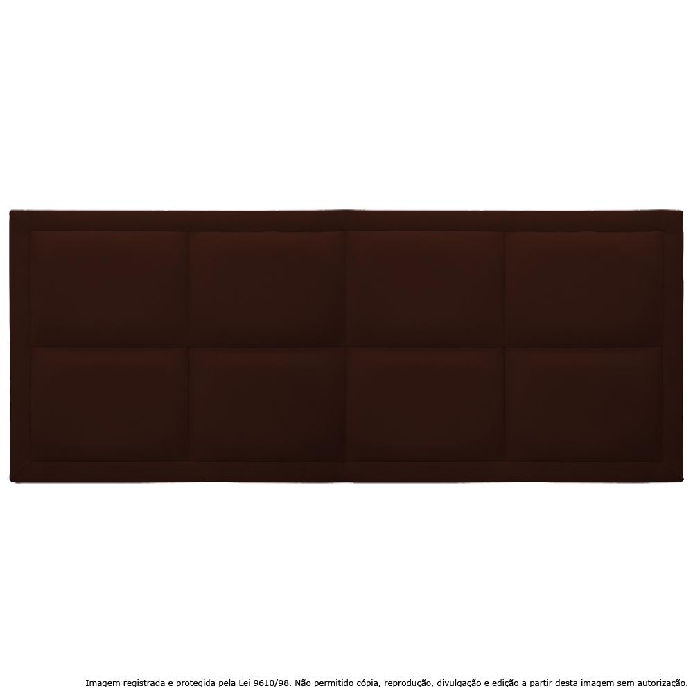 Cabeceira Estofada Painel Marrom Para Cama Box Queen 160cm