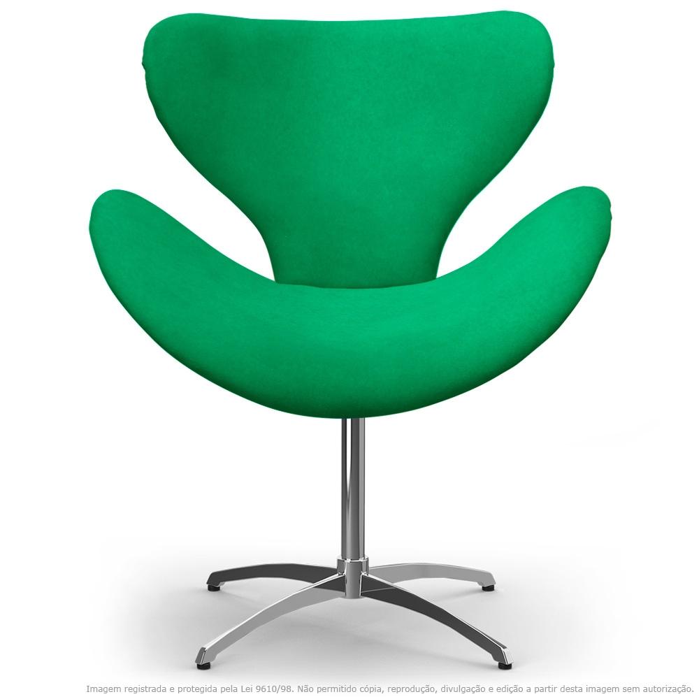 Cadeira Decorativa Poltrona Egg Verde com Base Giratória
