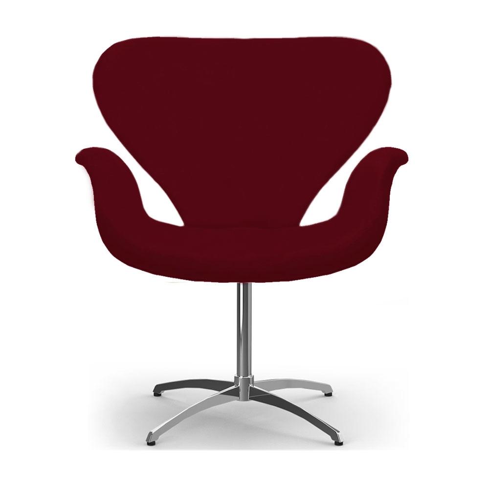 Cadeira Decorativa Poltrona Tulipa Bordô Base Giratória