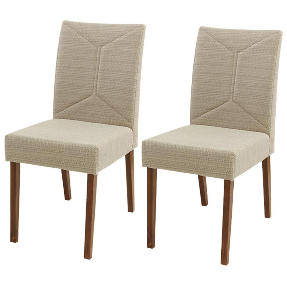 Conjunto 2 Cadeiras De Jantar Maia Madeira Maciça Greice Móveis