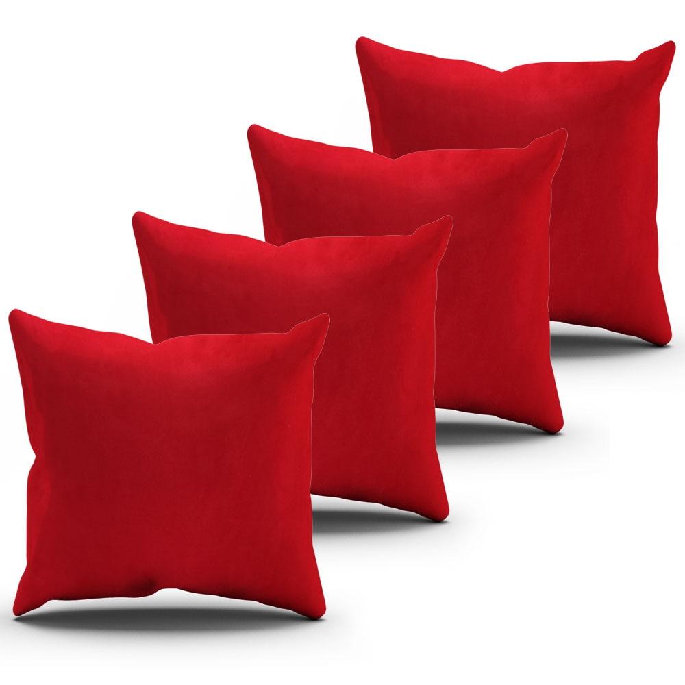 Kit 4 Almofadas Vermelhas 43x43cm cada