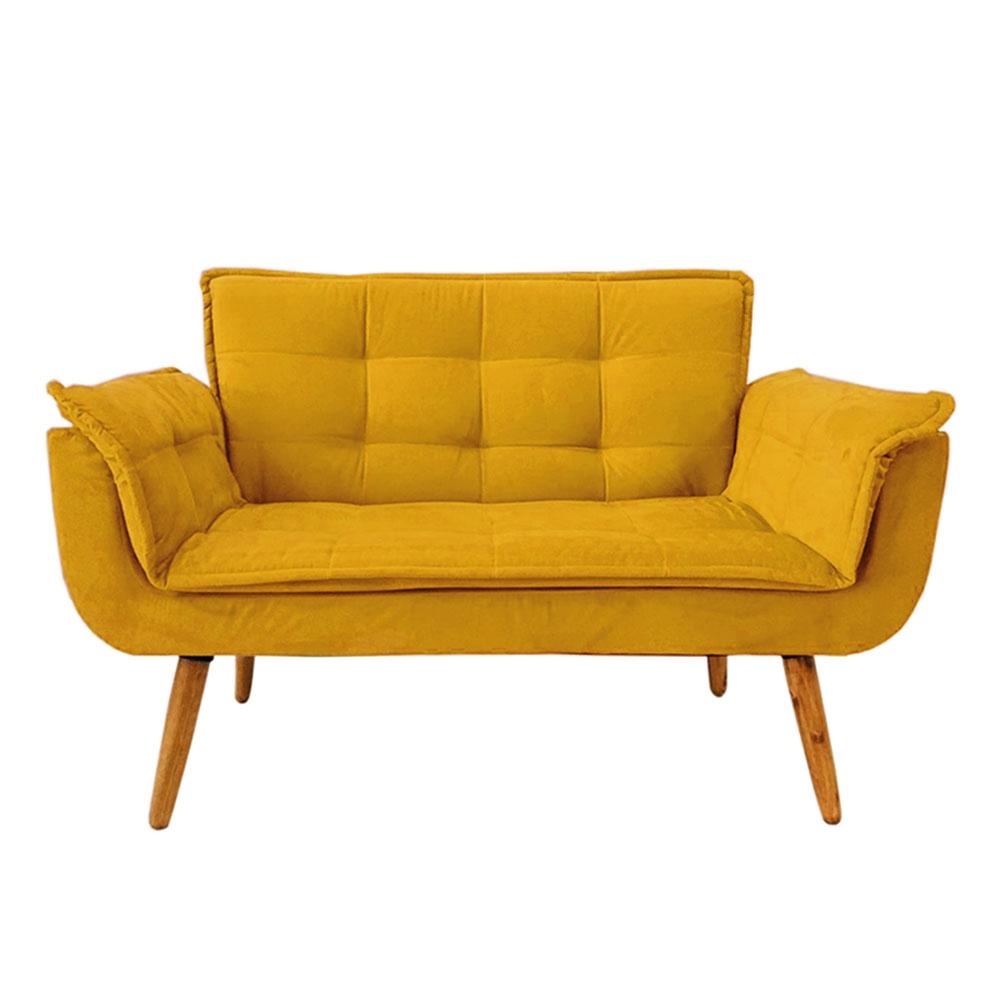 Poltrona Decorativa Amarelo Opala Namoradeira