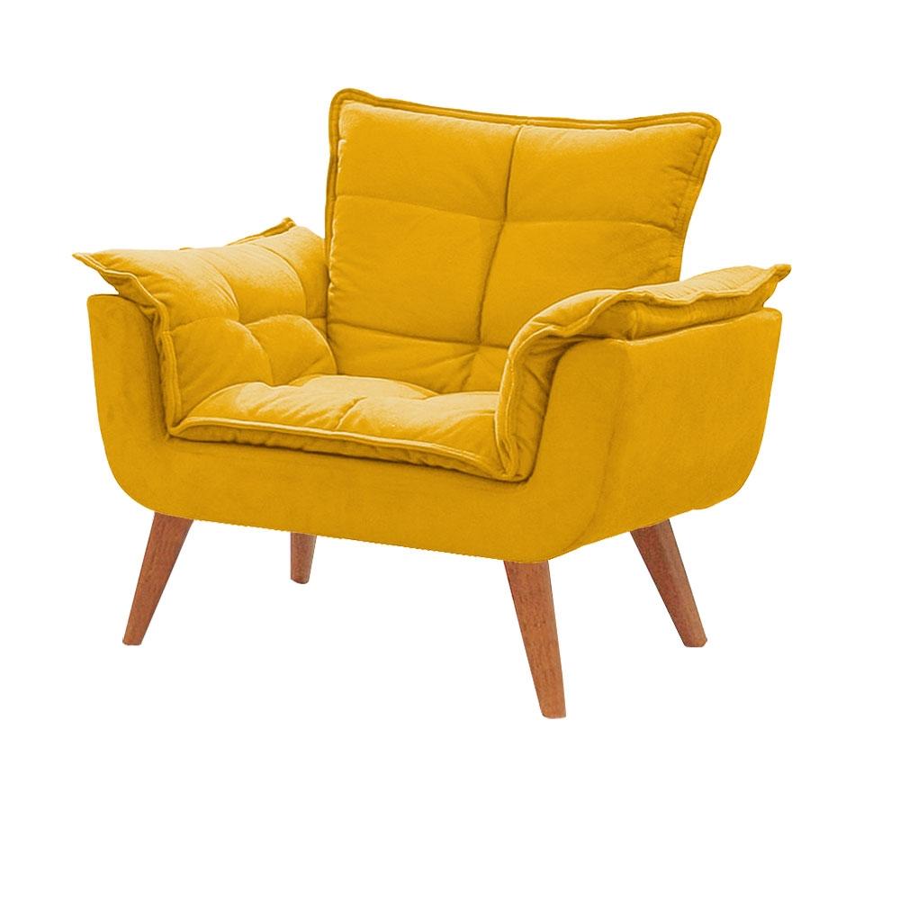 Poltrona Decorativa Opala Amarela