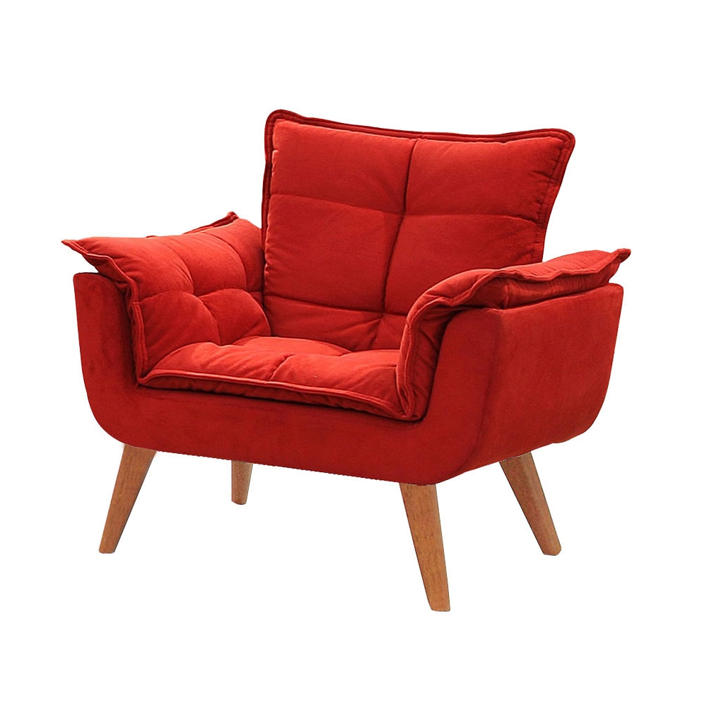 Poltrona Decorativa Opala Vermelha