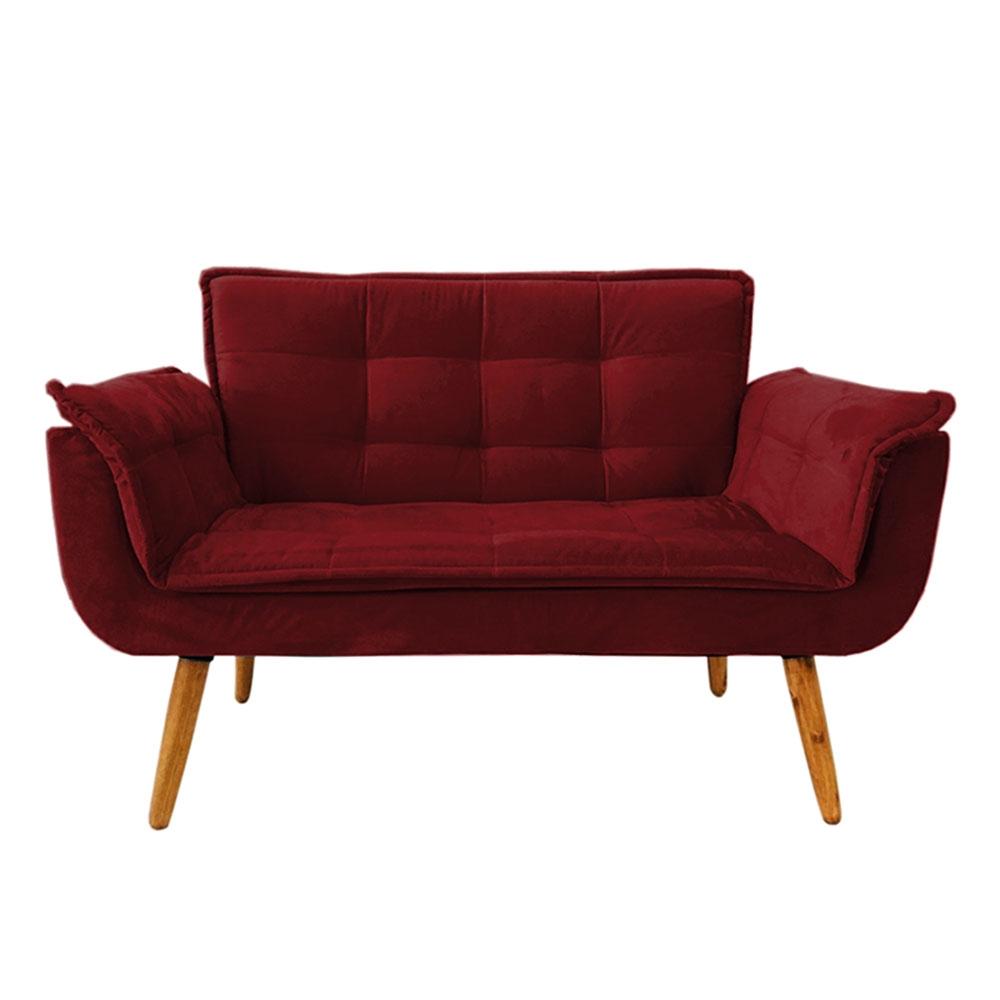 Poltrona Decorativa Vermelho Bordô Opala Namoradeira
