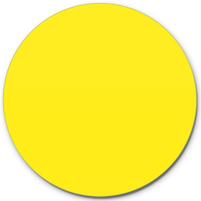 Prato Giratório Centro De Mesa Laqueado Amarelo 80cm