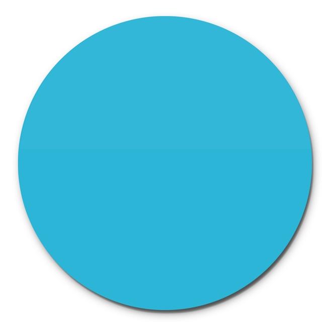 Prato Giratório Centro De Mesa Laqueado Azul Turquesa 70cm