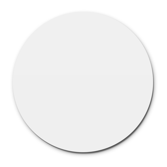 Prato Giratório Centro De Mesa Laqueado Branco 60cm