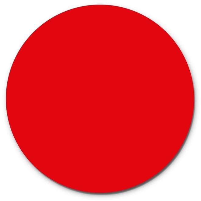 Prato Giratório Centro De Mesa Laqueado Vermelho 80cm