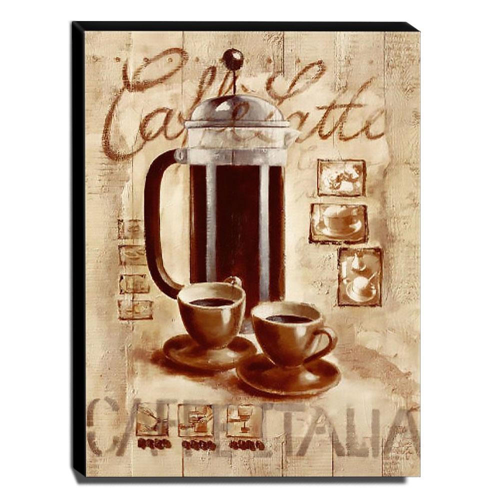 Quadro Cozinha Vintage Café Canvas 40x30cm-COZ127
