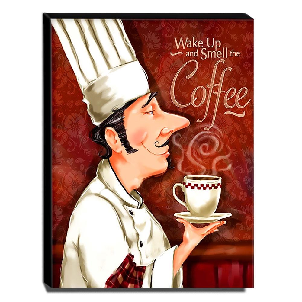 Quadro Cozinha Vintage Café Canvas 40x30cm-COZ204