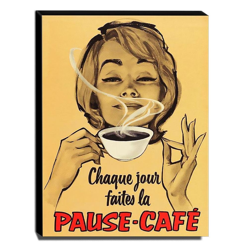 Quadro Cozinha Vintage Café Canvas 40x30cm-COZ211