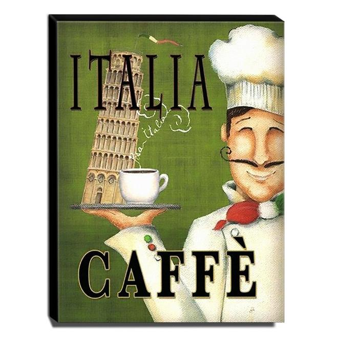 Quadro Cozinha Vintage Café Itália Canvas 40x30cm-COZ14C