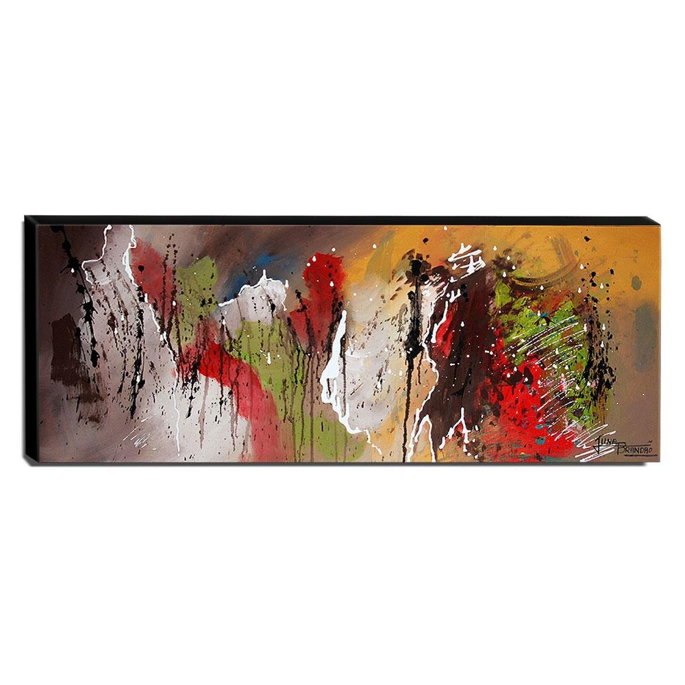 Quadro de Pintura Abstrato 40x105cm-1611
