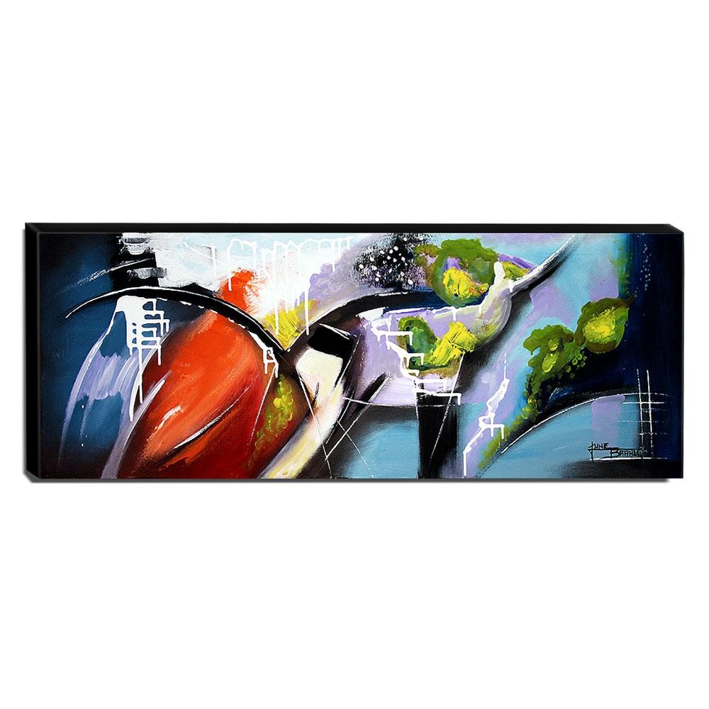 Quadro de Pintura Abstrato 40x105cm-1612