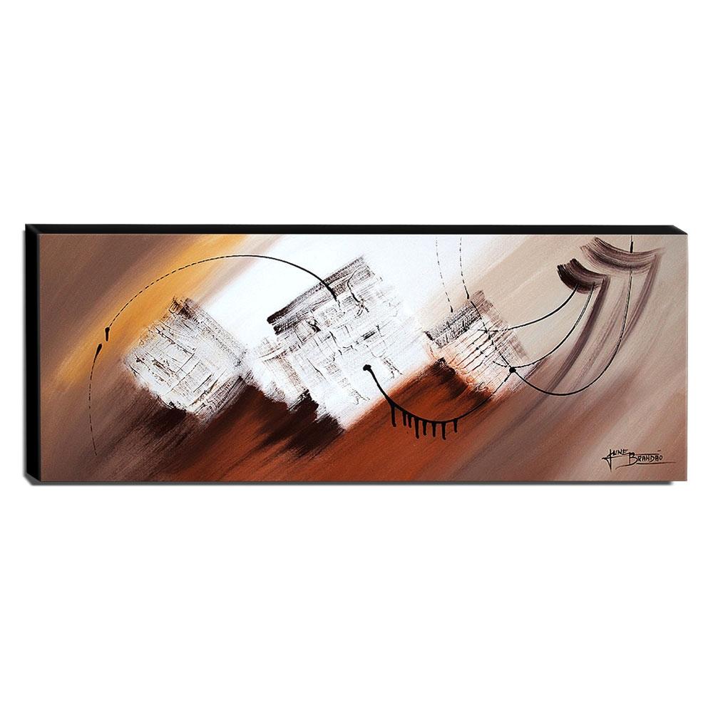 Quadro de Pintura Abstrato 40x105cm-1613