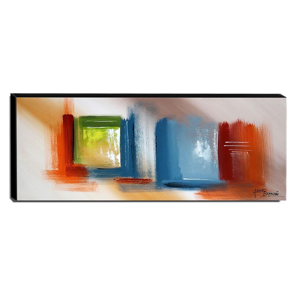 Quadro de Pintura Abstrato 40x105cm-1659