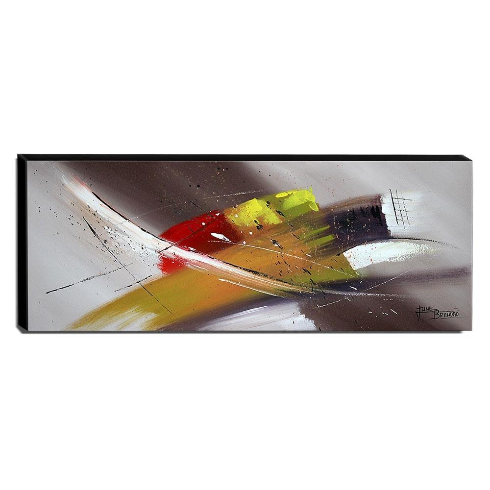 Quadro de Pintura Abstrato 40x105cm-1660