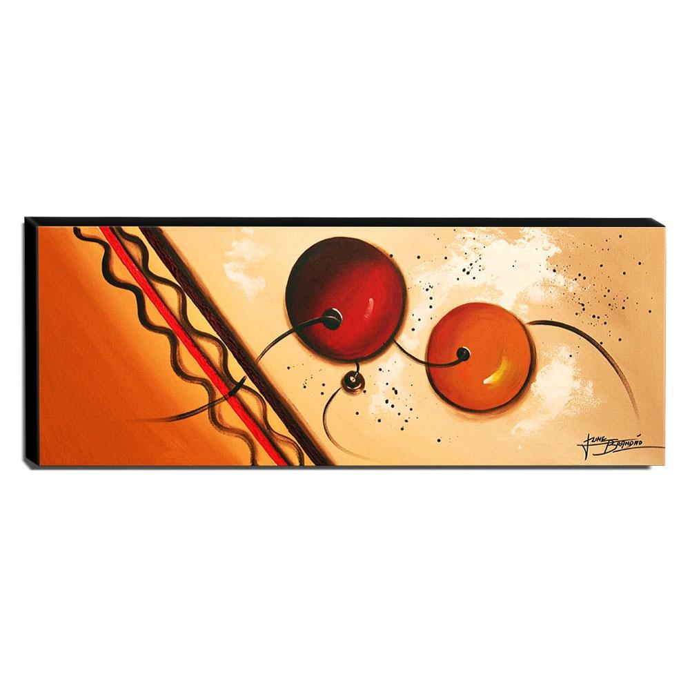 Quadro de Pintura Abstrato 40x105cm-1675
