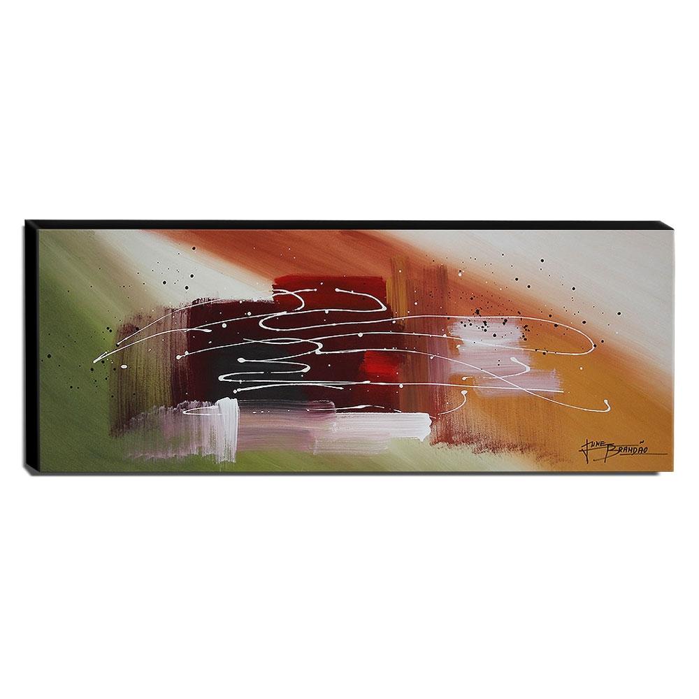 Quadro de Pintura Abstrato 40x105cm-1677