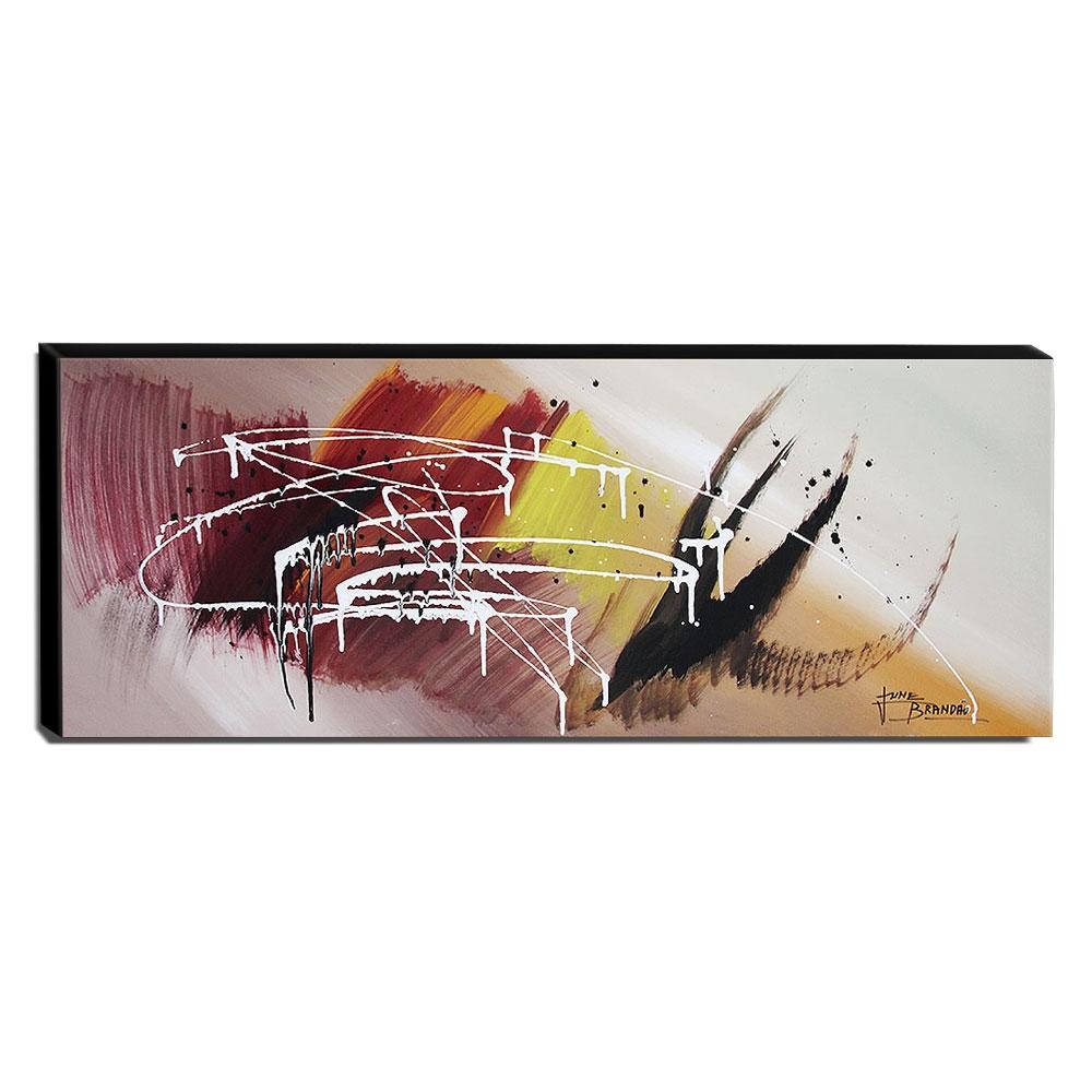 Quadro de Pintura Abstrato 40x105cm-1683