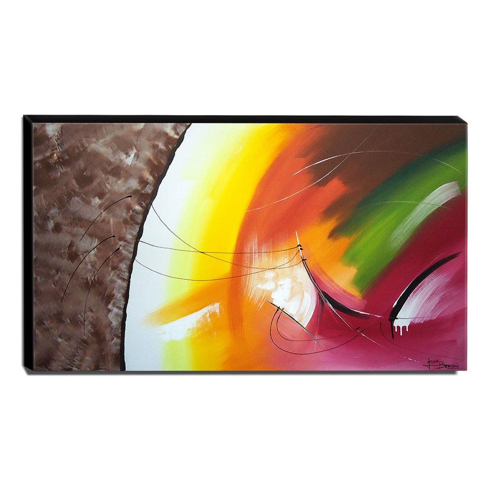 Quadro de Pintura Abstrato 60x105cm-0748