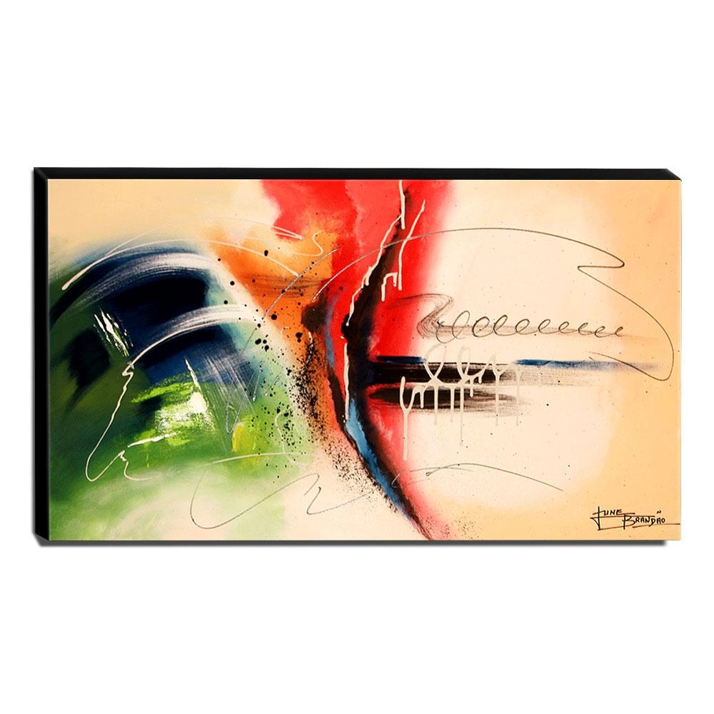 Quadro de Pintura Abstrato 60x105cm-1535