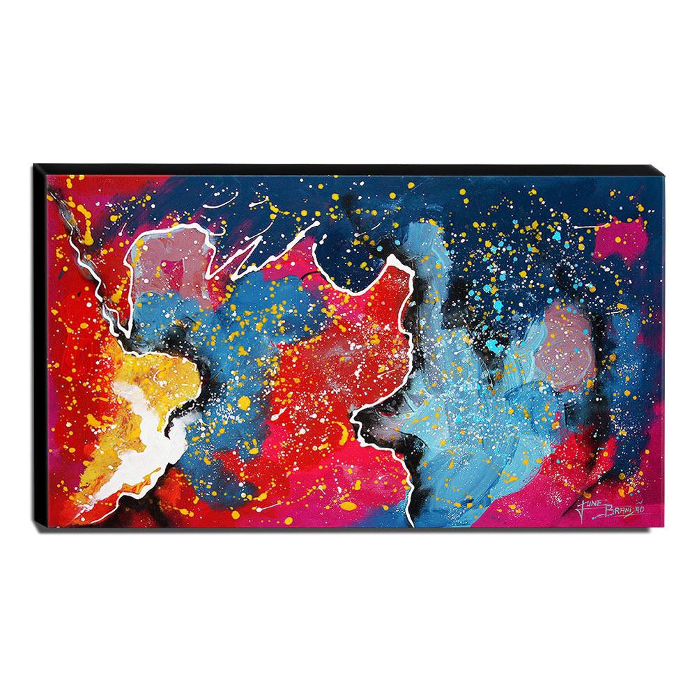 Quadro de Pintura Abstrato 60x105cm-1588