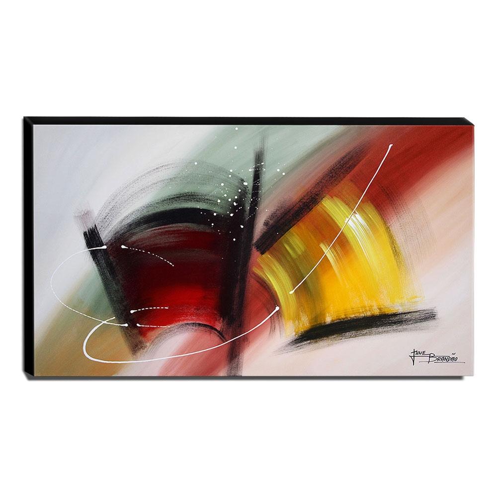 Quadro de Pintura Abstrato 60x105cm-1649