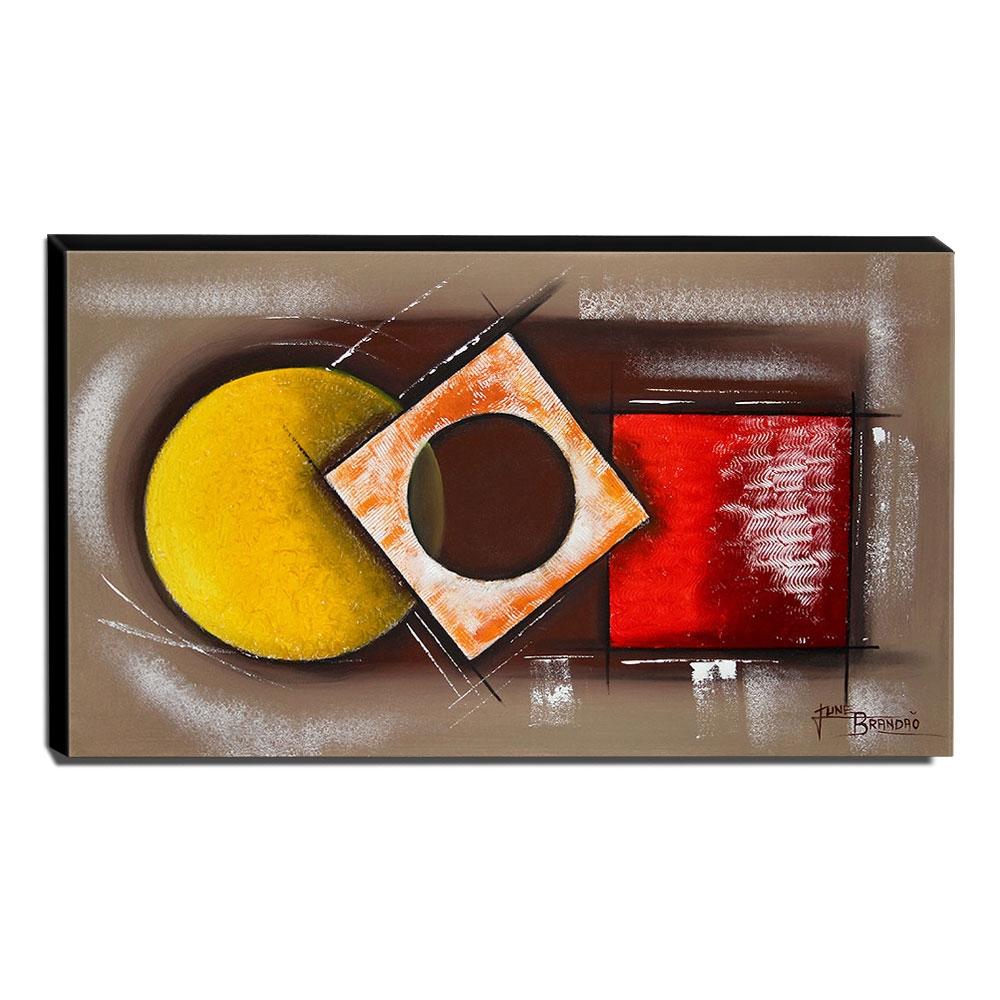 Quadro de Pintura Abstrato 60x105cm-1650