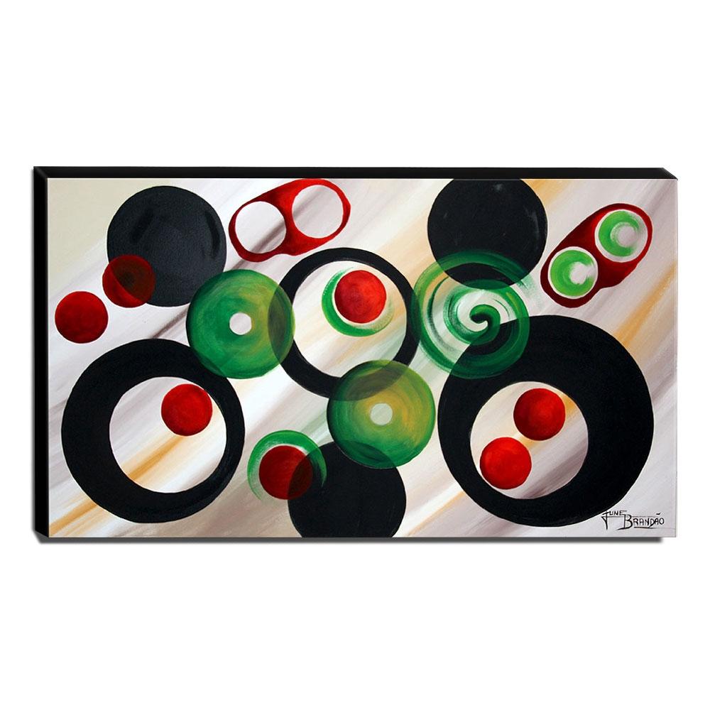 Quadro de Pintura Abstrato 60x105cm-1652