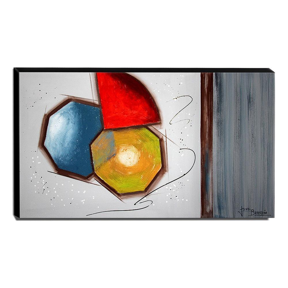Quadro de Pintura Abstrato 60x105cm-1662