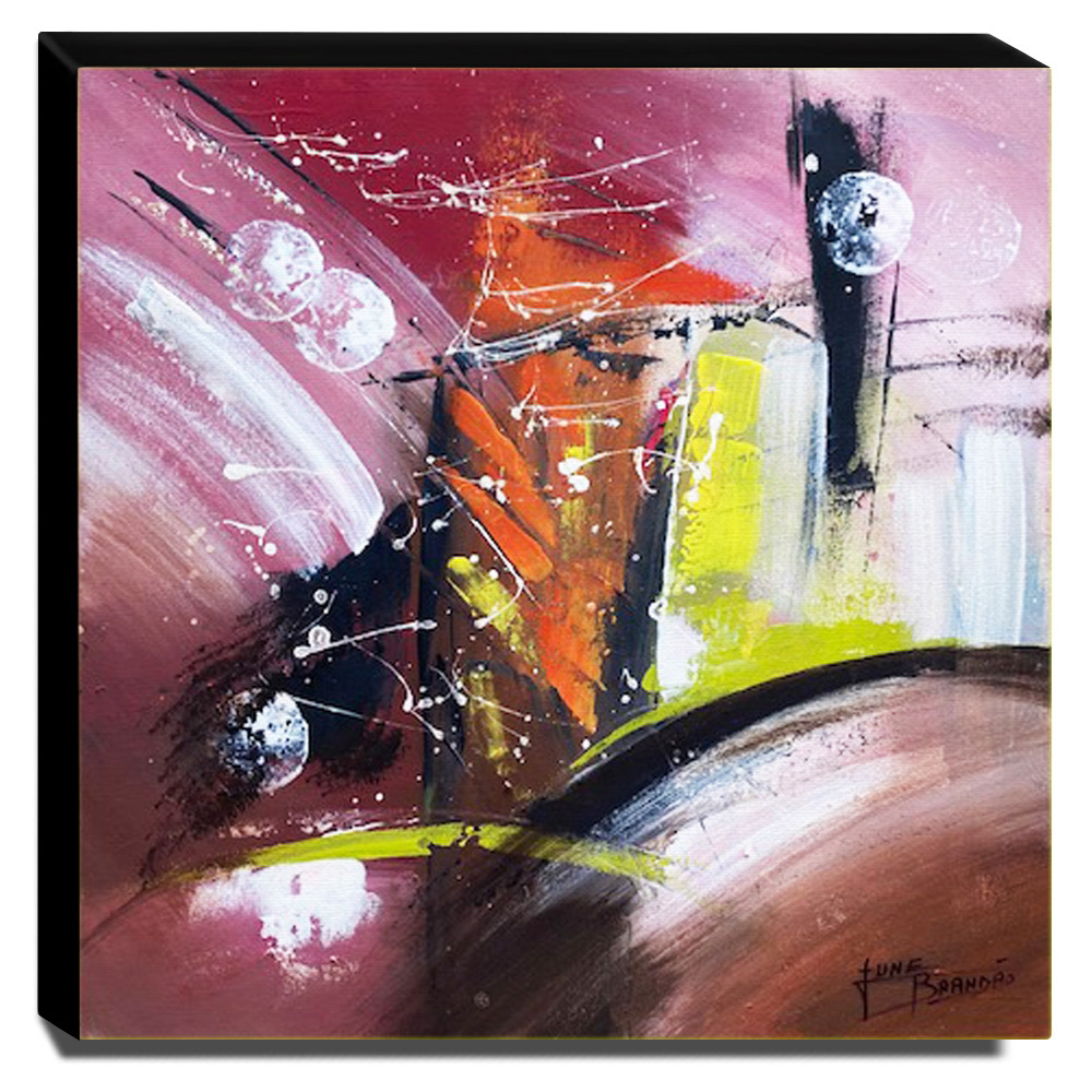 Quadro de Pintura Abstrato 60x60cm-1800