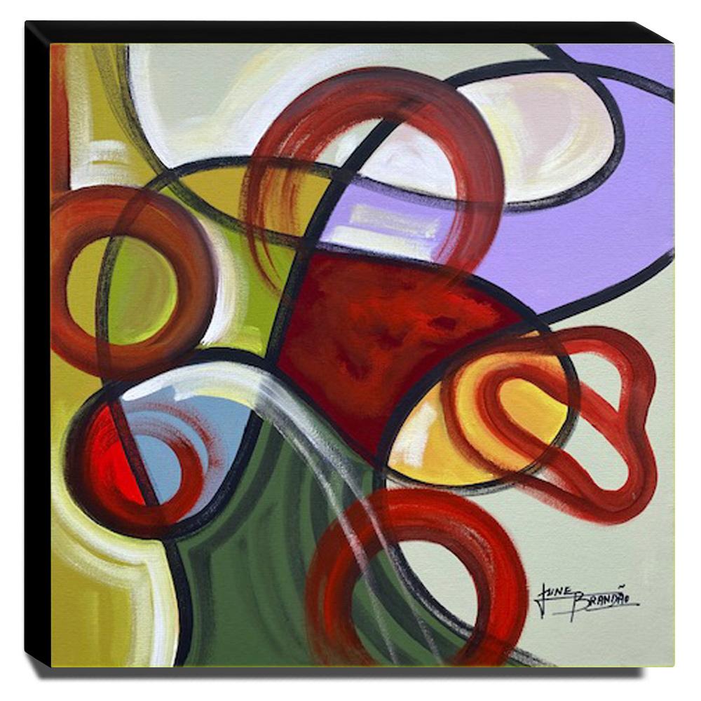 Quadro de Pintura Abstrato 60x60cm-1801