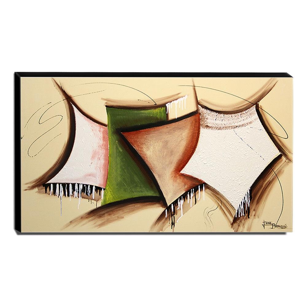 Quadro de Pintura Abstrato 70x120cm-1428