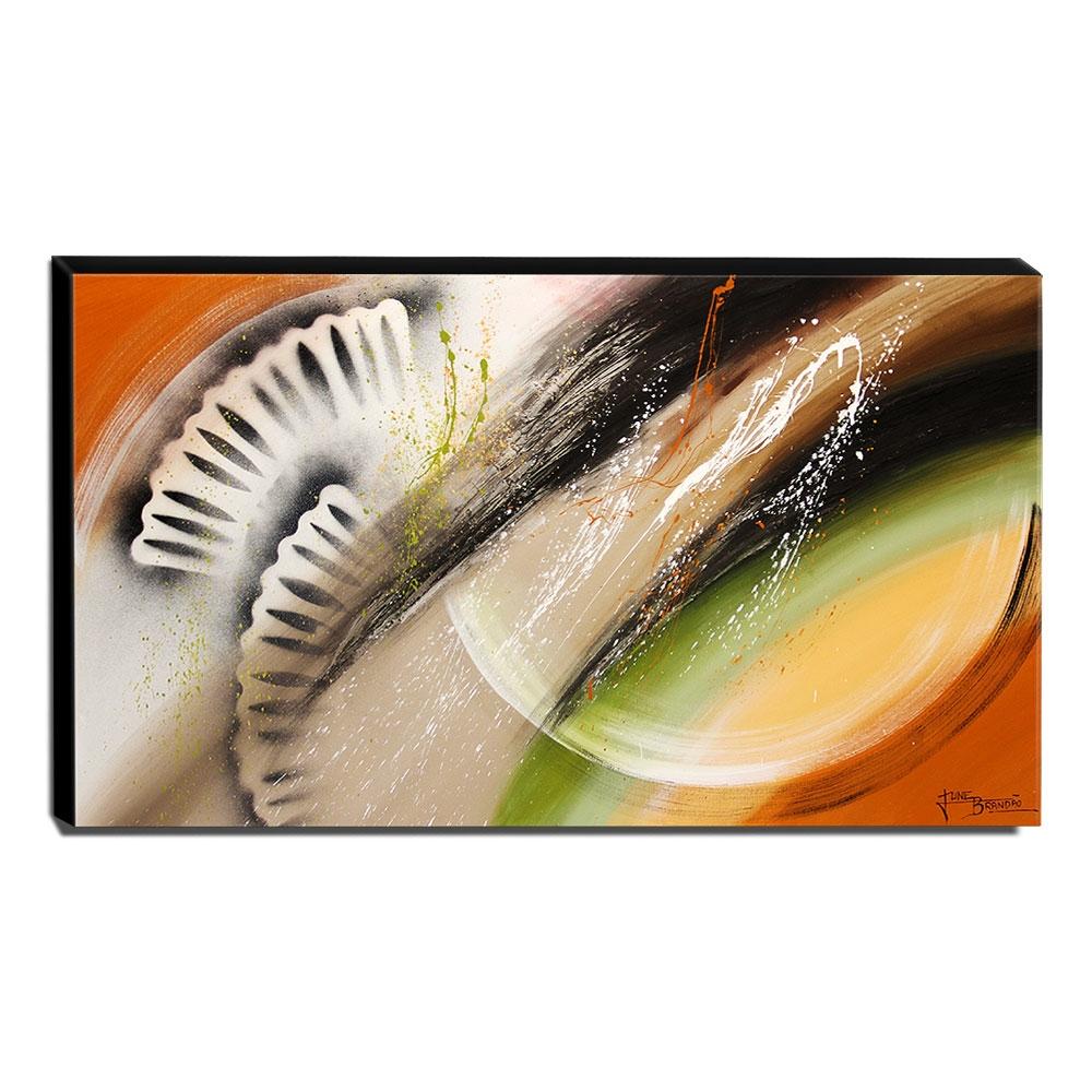 Quadro de Pintura Abstrato 70x120cm-1454