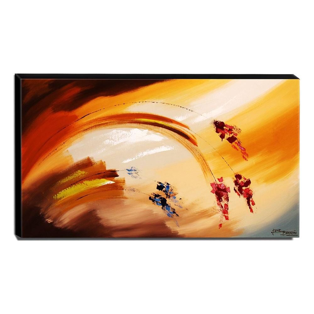 Quadro de Pintura Abstrato 70x120cm-1529