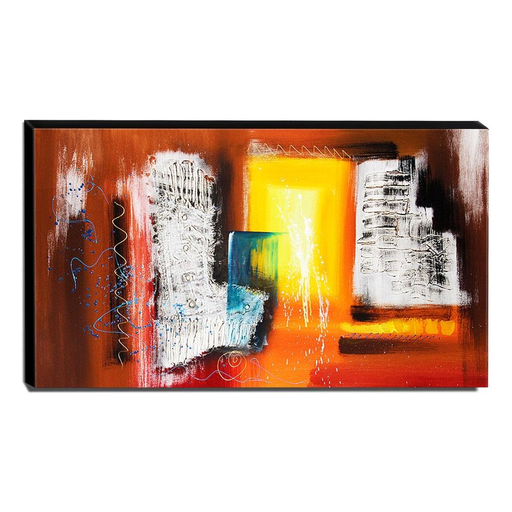 Quadro de Pintura Abstrato 70x120cm-1575