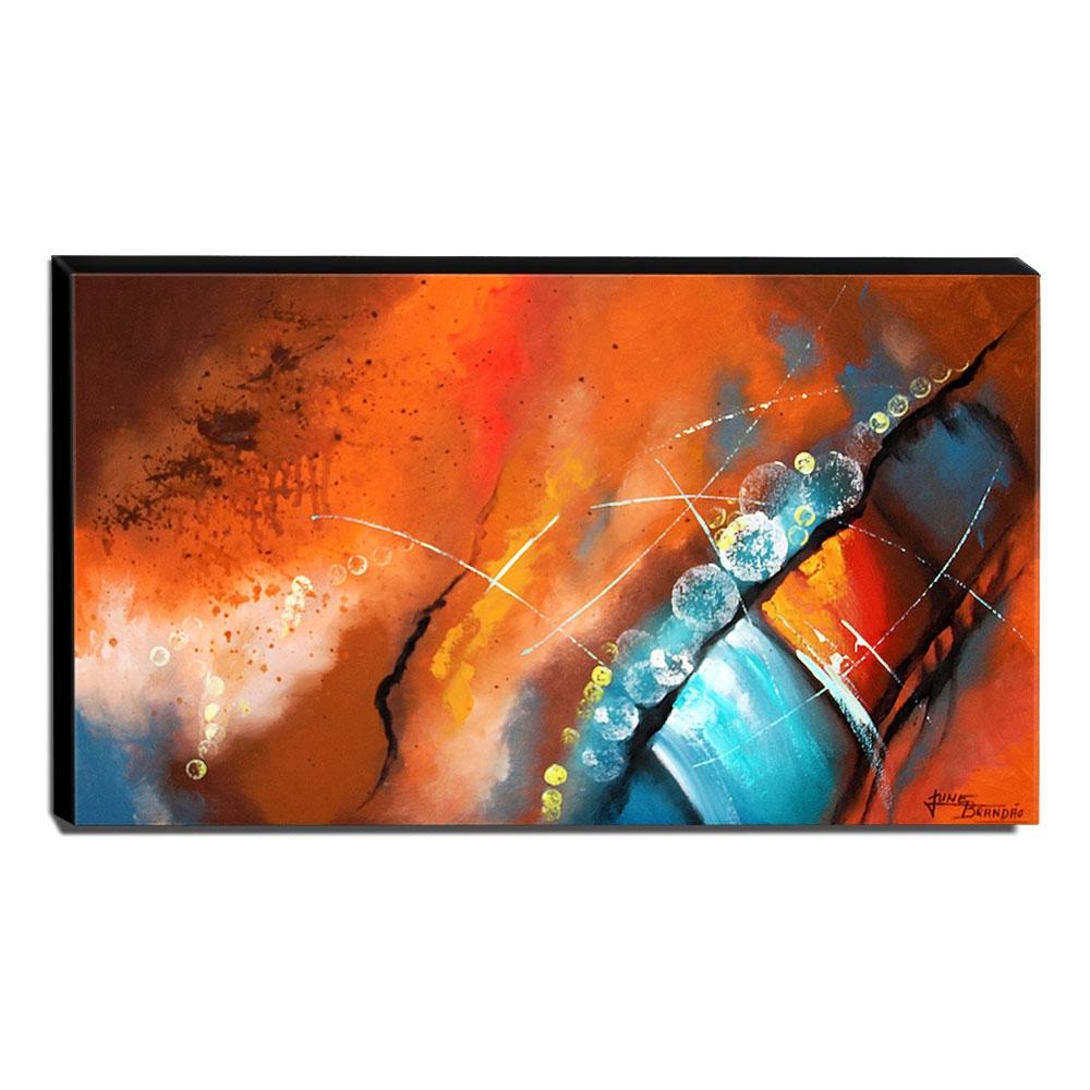 Quadro de Pintura Abstrato 70x120cm-1600