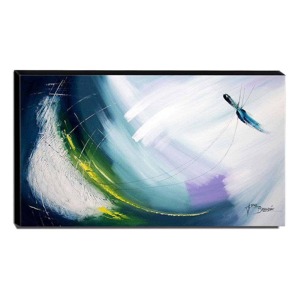 Quadro de Pintura Abstrato 70x120cm-1620