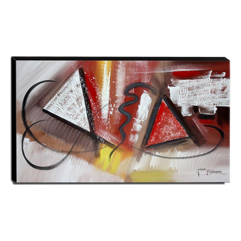Quadro de Pintura Abstrato 70x120cm-1635