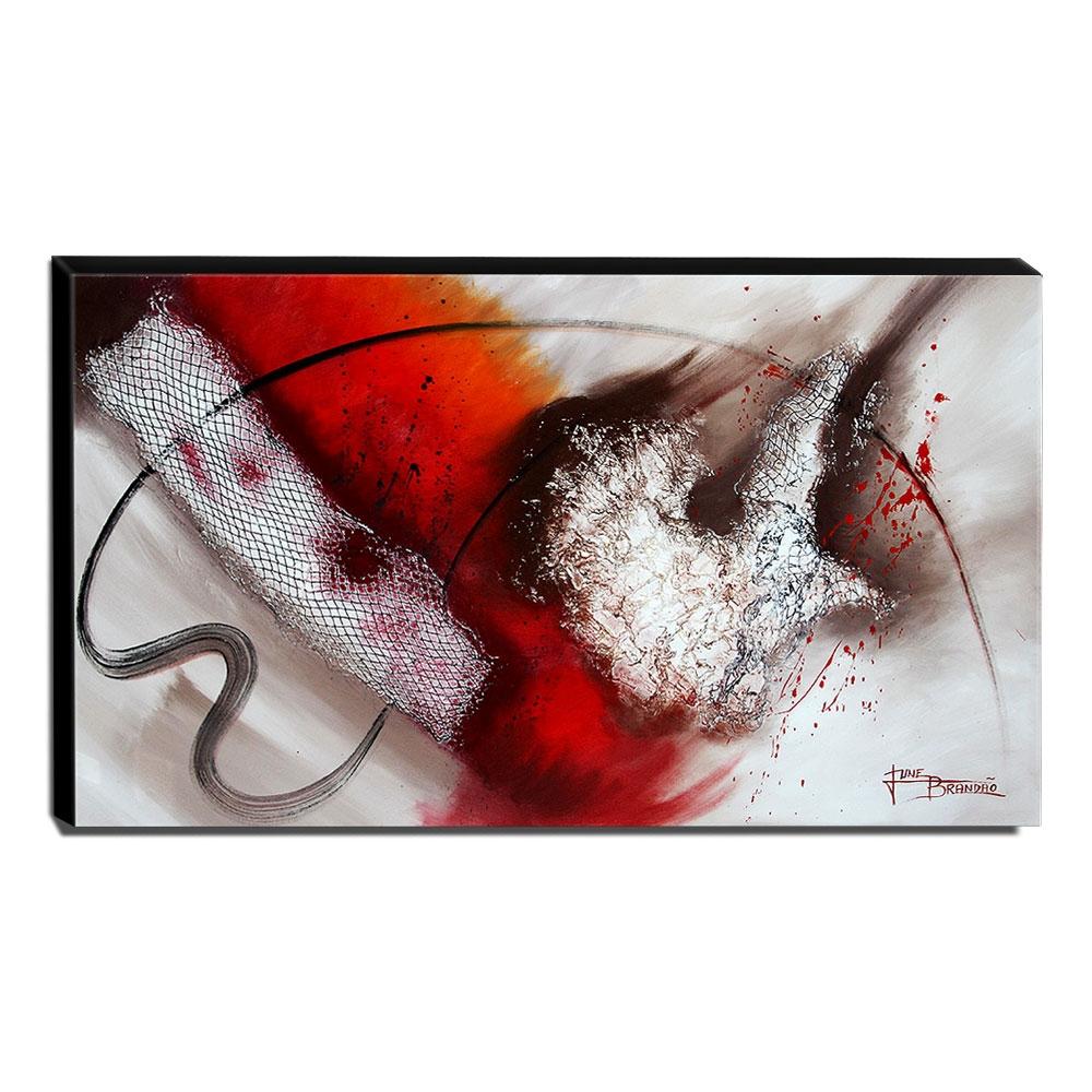 Quadro de Pintura Abstrato 70x120cm-1645