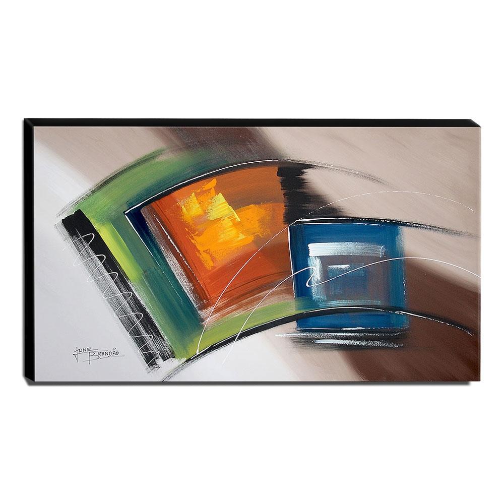 Quadro de Pintura Abstrato 70x120cm-1691