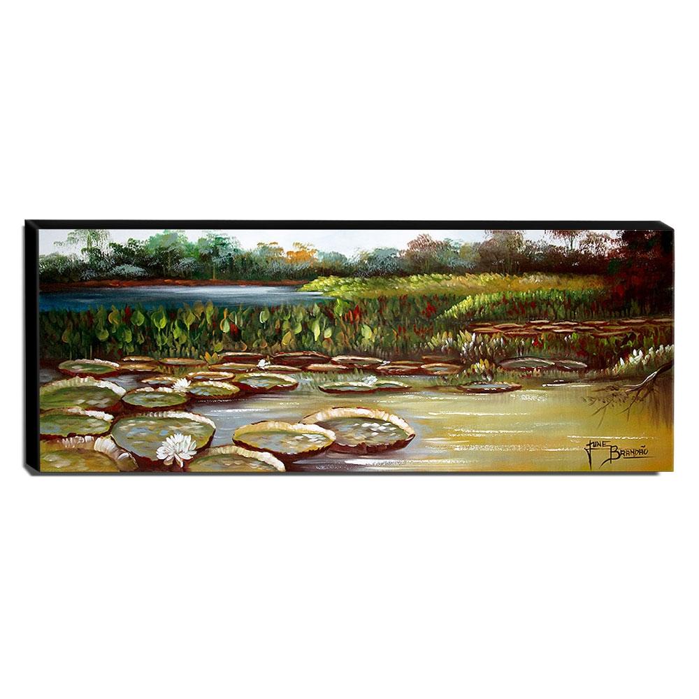Quadro de Pintura Amazonas 40x105cm-1614