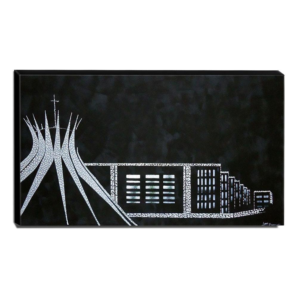 Quadro de Pintura Brasília 60x120cm - 0420