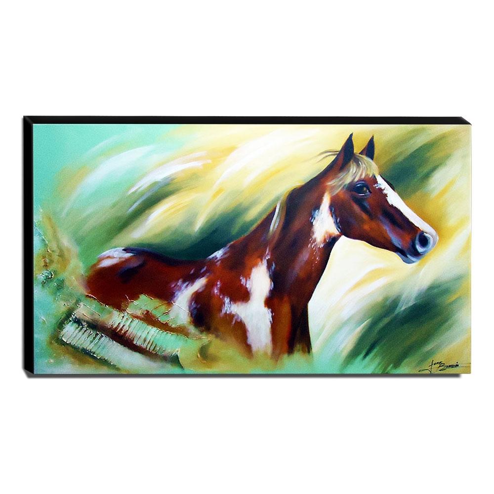 Quadro de Pintura Cavalo 70x120cm - 0441