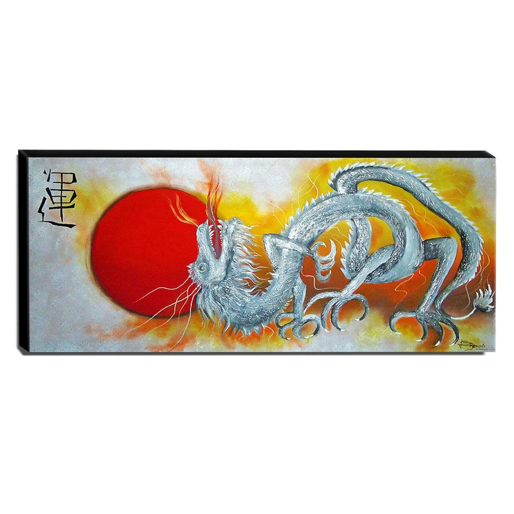 Quadro de Pintura Chinês 40x105cm-1022