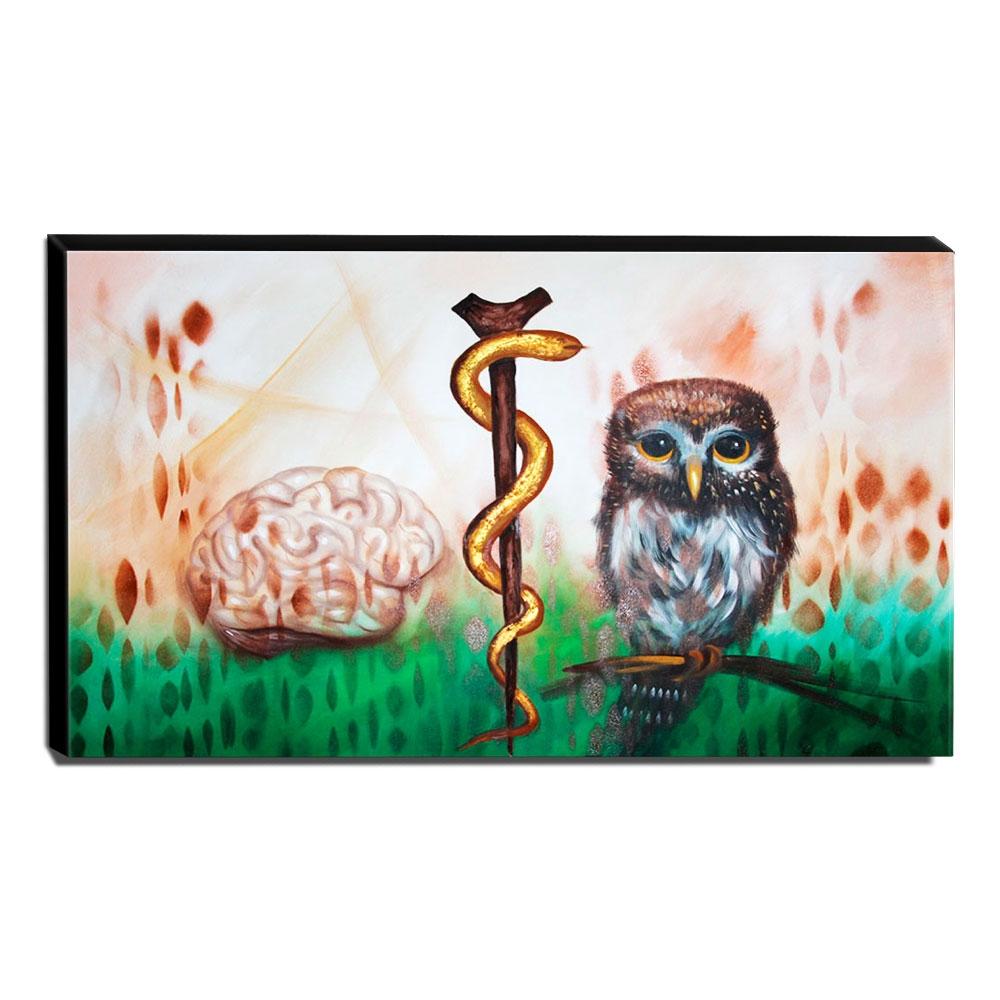 Quadro de Pintura Consultório Médico de Neurologia-60x105cm-1638