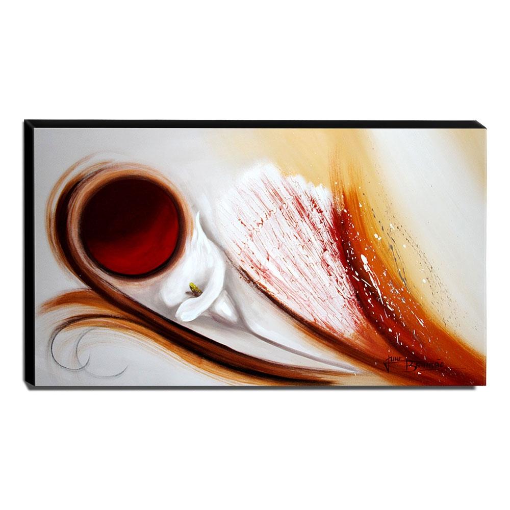 Quadro de Pintura Copo de Leite 60x105cm-1666