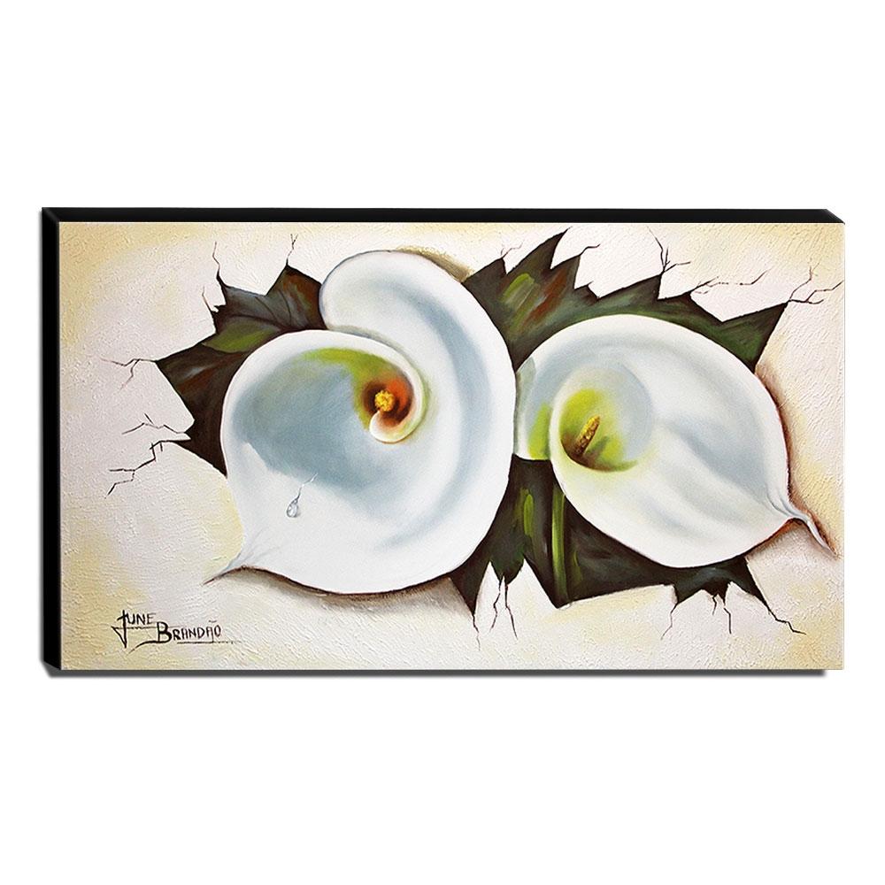 Quadro de Pintura Copo de Leite 70x120cm-1374